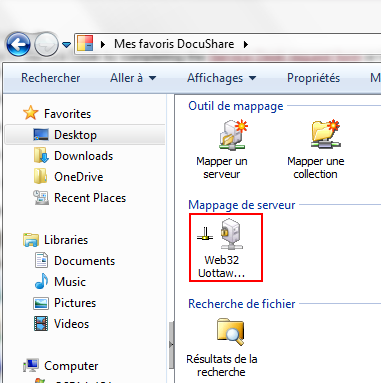Mes Favoris DocuShare