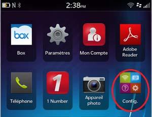 Accédez au réseau sans fil uOttawa-WPA avec votre appareil BlackBerry 10 - étape 1