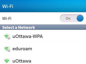 Accédez au réseau sans fil uOttawa-WPA avec votre appareil BlackBerry 10 - étape 3