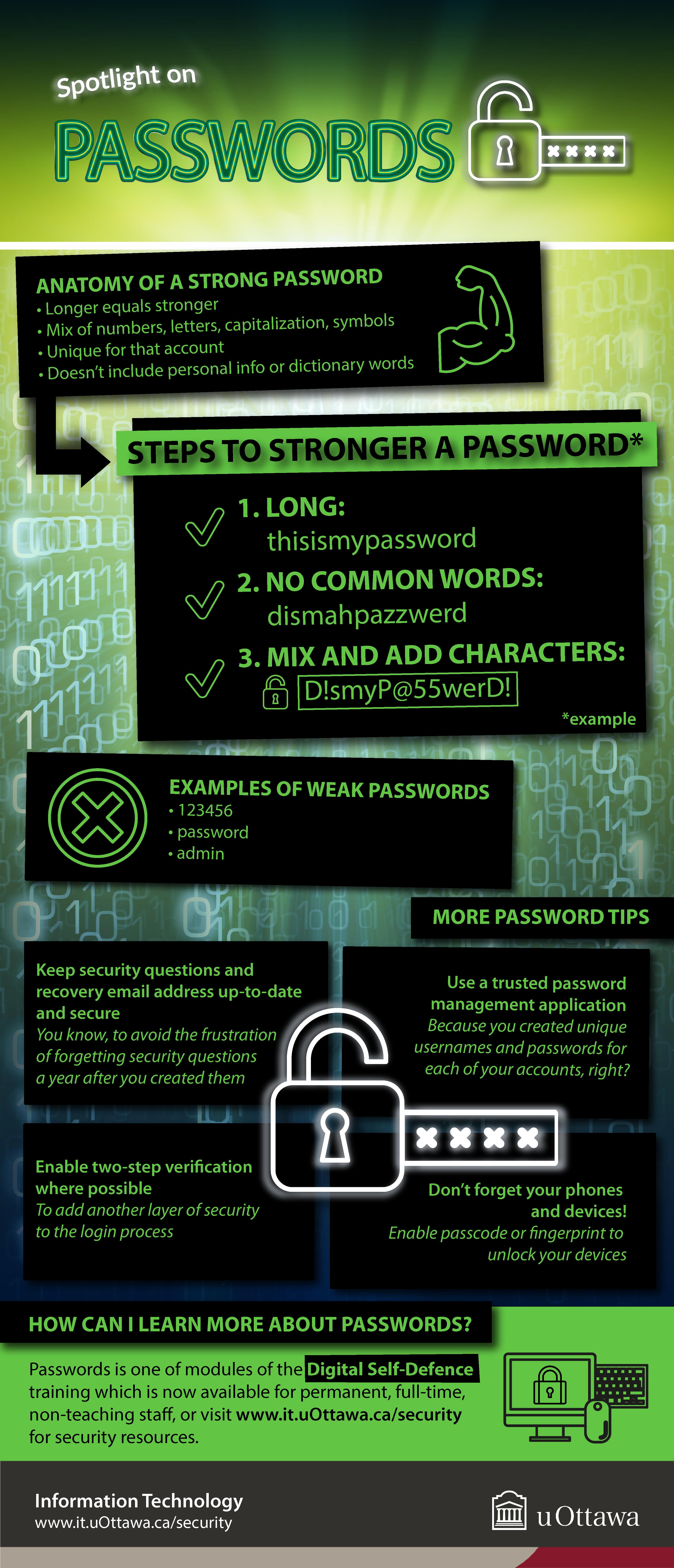 Spotlight on passwords, infographic