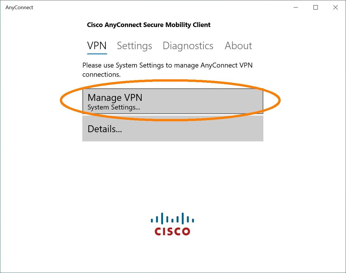 Manage VPN