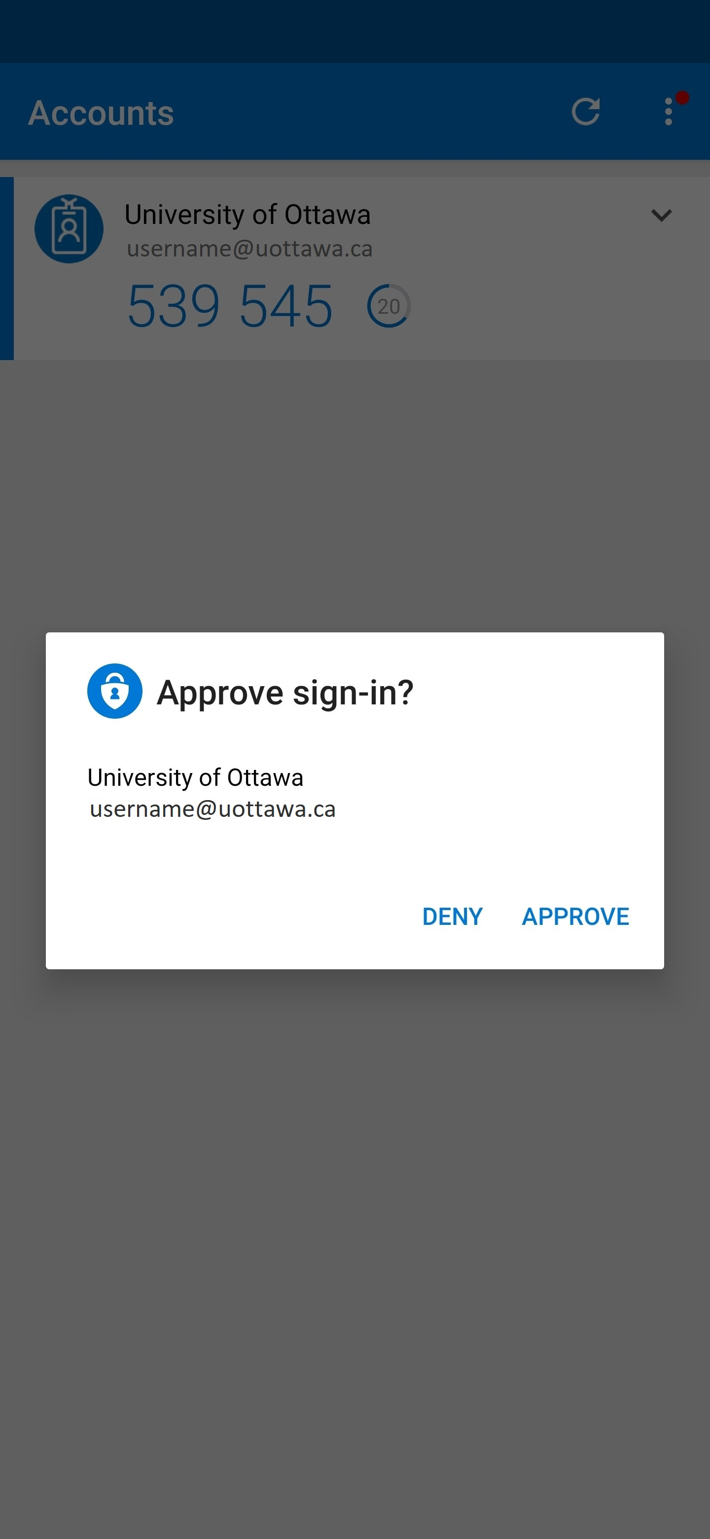 approve sign-in