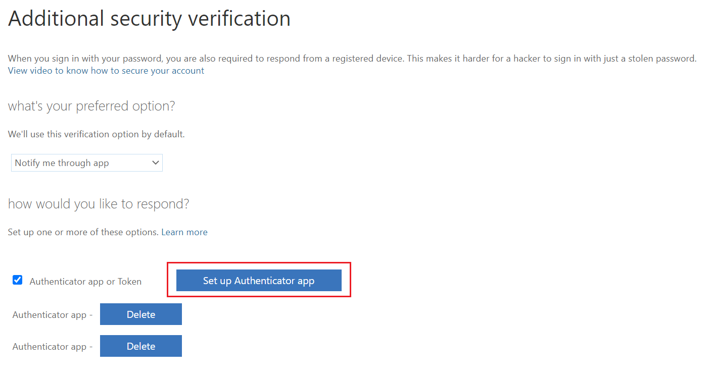 additional security verification