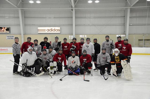 Hockey match participants