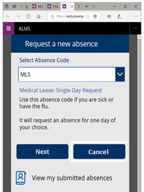 screen capture student absence management app