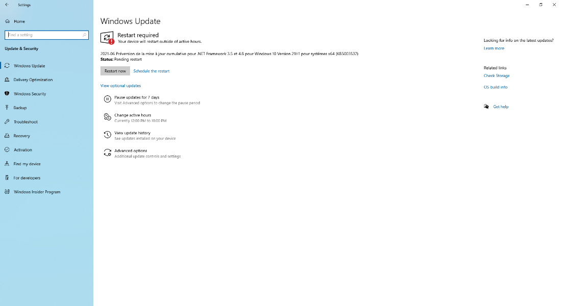 Let Windows install updates