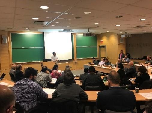 meeting classroom presenter in front speaking