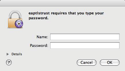 Accéder au réseau sans fil uOttawa-WPA avec Apple Mac OS X 10.6 et versions ultérieures capture d'écran - étape 10