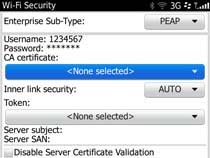 Access uOttawa-WPA wireless with Blackberry OS 6&7 - step 6