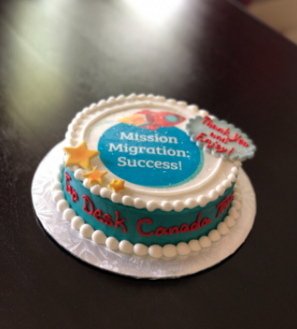 "Success!"" cake."