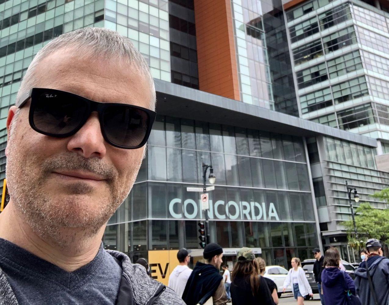 CIO Martin Bernier outside of Concordia University pre-CANHEIT 2021.