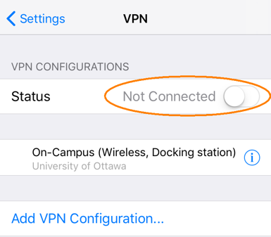 Connecting to uOttawa VPN, Step 2, connect to the VPN