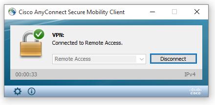 Pour se déconnecter du client RPV uOttawa, étape 2,