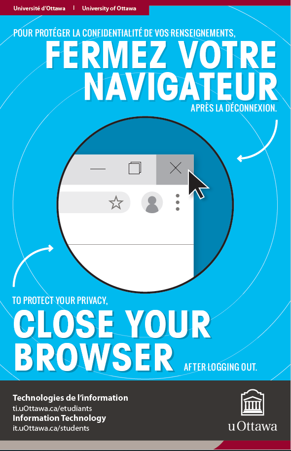 Cybersecurity awareness month poster that reads close your browser