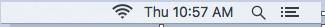 Configuring eduroam for Mac, step 1, click the wireless icon