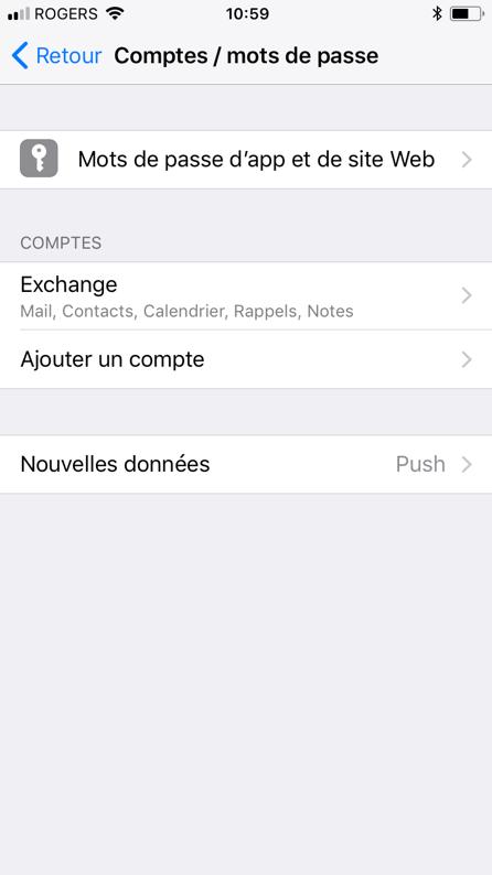 Configuration Microsoft Exchange, étape 9, votre compte est maintenant configurer