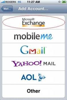 Step 4, Select Microsoft Exchange.