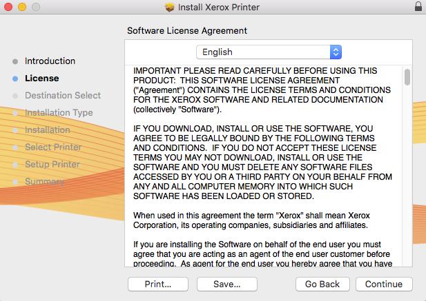 Installation of Relmon Black and White Printer - Mac OS X