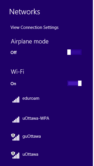 Step 2, Click once on eduroam from the list of networks