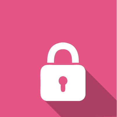 Reset my password, lock image