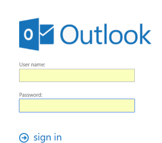 Booking rooms in Outlook for the Web sign in