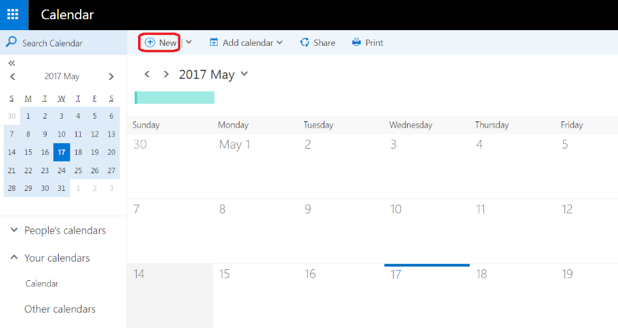 Booking rooms in Outlook for the Web, New button
