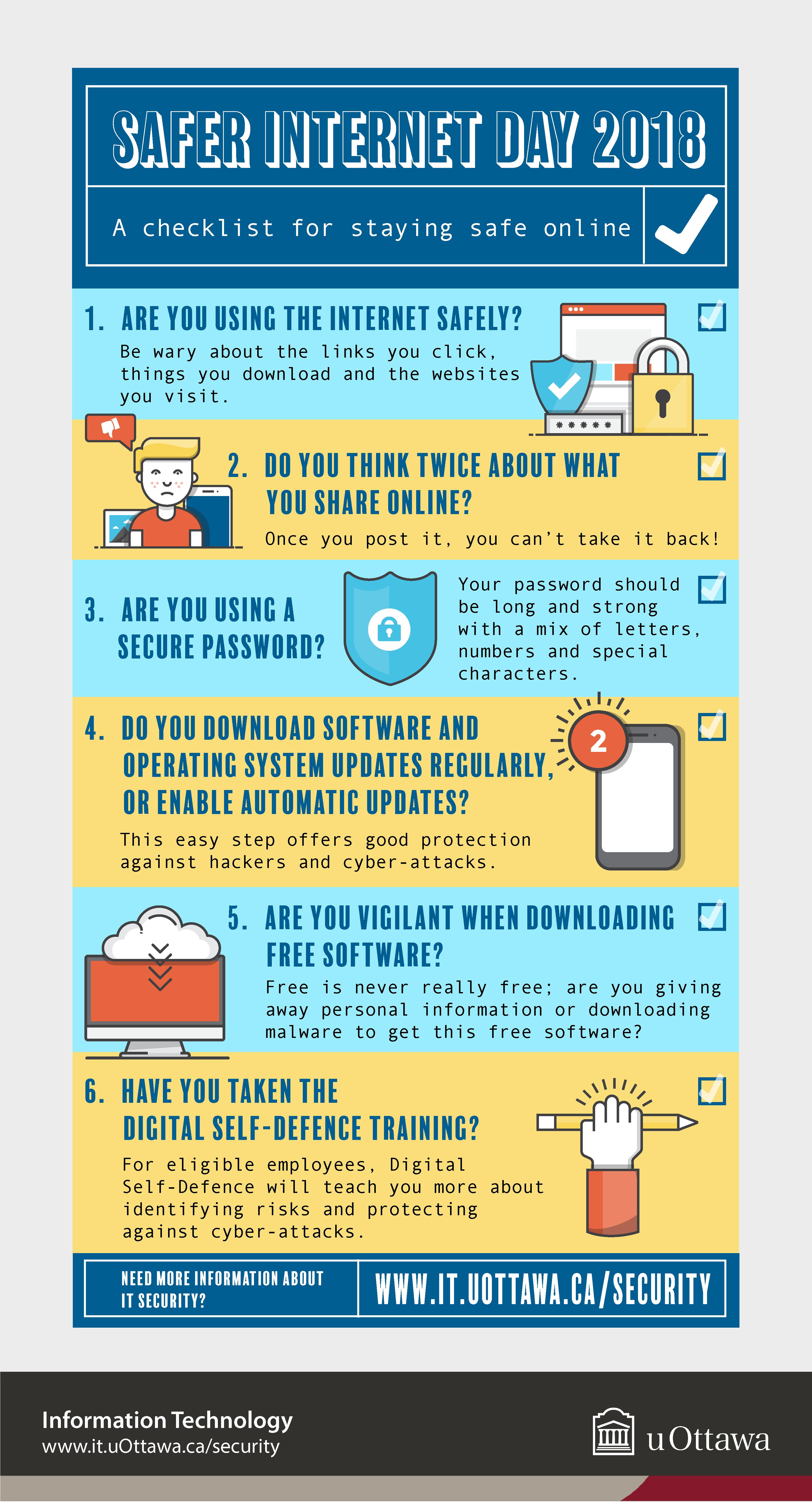 Safer Internet Day 2018 infographic, text version below