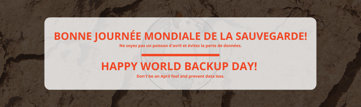 Bonne journée mondiale de la sauvegarde | Happy world backup day