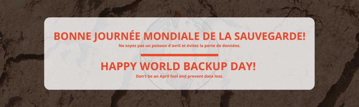 Bonne journée mondiale de la sauvegarde | Happy world backup day