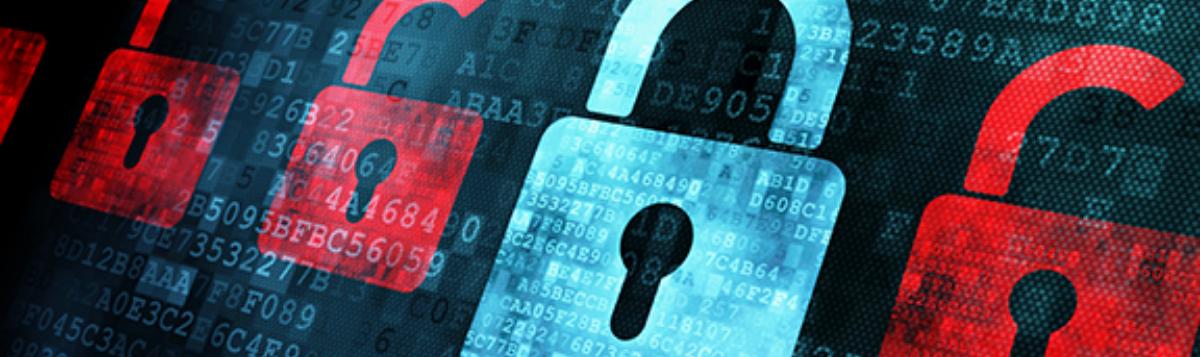 Digital locks on a computer screen