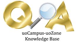 uoCampus-uoZone Knowledge Base