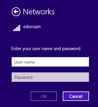 Step 3, Enter your uoAccess username and password and click OK.