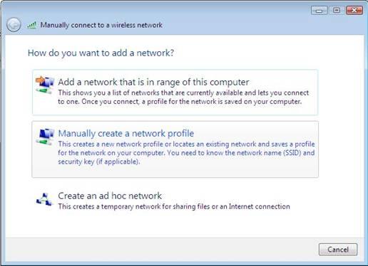 Access uOttawa-WPA wireless with Windows Vista - step 3
