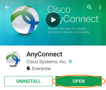 Installing and Configuring a VPN Profile, step 3, tap open