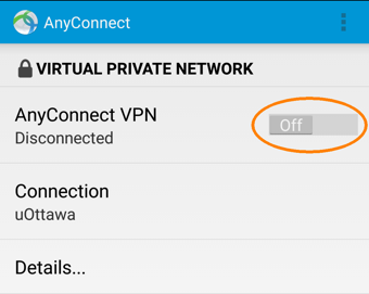 Installing and Configuring a VPN Profile, step 8, turn to ON