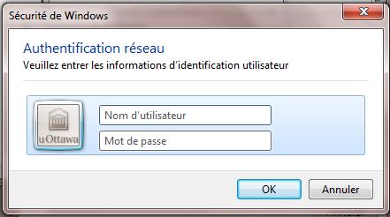 Configurer eduroam pour Windows 7, étape 4, entrer les informations d'identification utilisateur