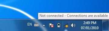 Access uOttawa-WPA wireless with Windows 7 - step 1