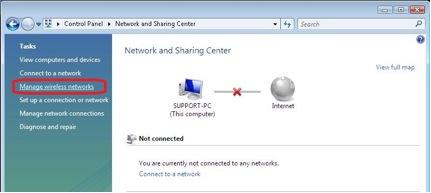 Windows 7 alternative configuration for WPA - step 1
