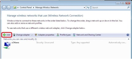Windows 7 alternative configuration for WPA - step 2