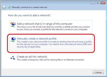 Windows 7 alternative configuration for WPA - step 3