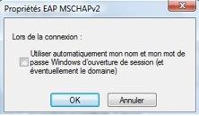 Accéder au réseau sans fil uOttawa-WPA avec Windows 7, configuration alternative - étape 5i