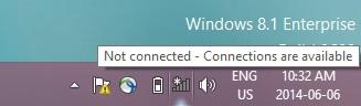 Access uOttawa-WPA wireless with Windows 8 - step 1