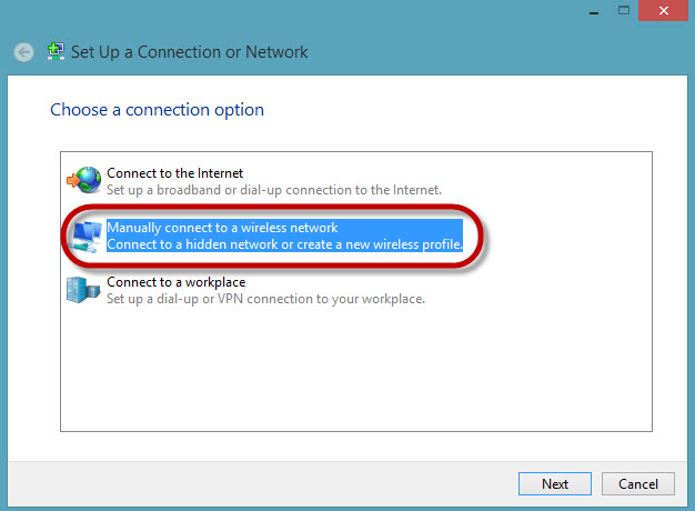Access uOttawa-WPA wireless with Windows 8, alternative configuration - step 5