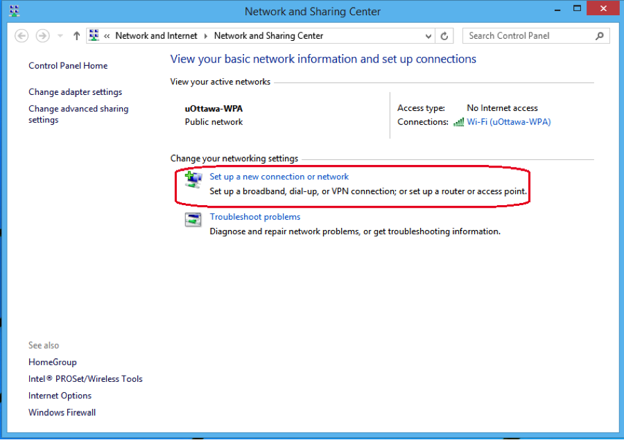 eduroam manual configuration procedures for windows 8 - step 1