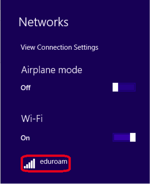 eduroam manual configuration procedures for windows 8 - step 9