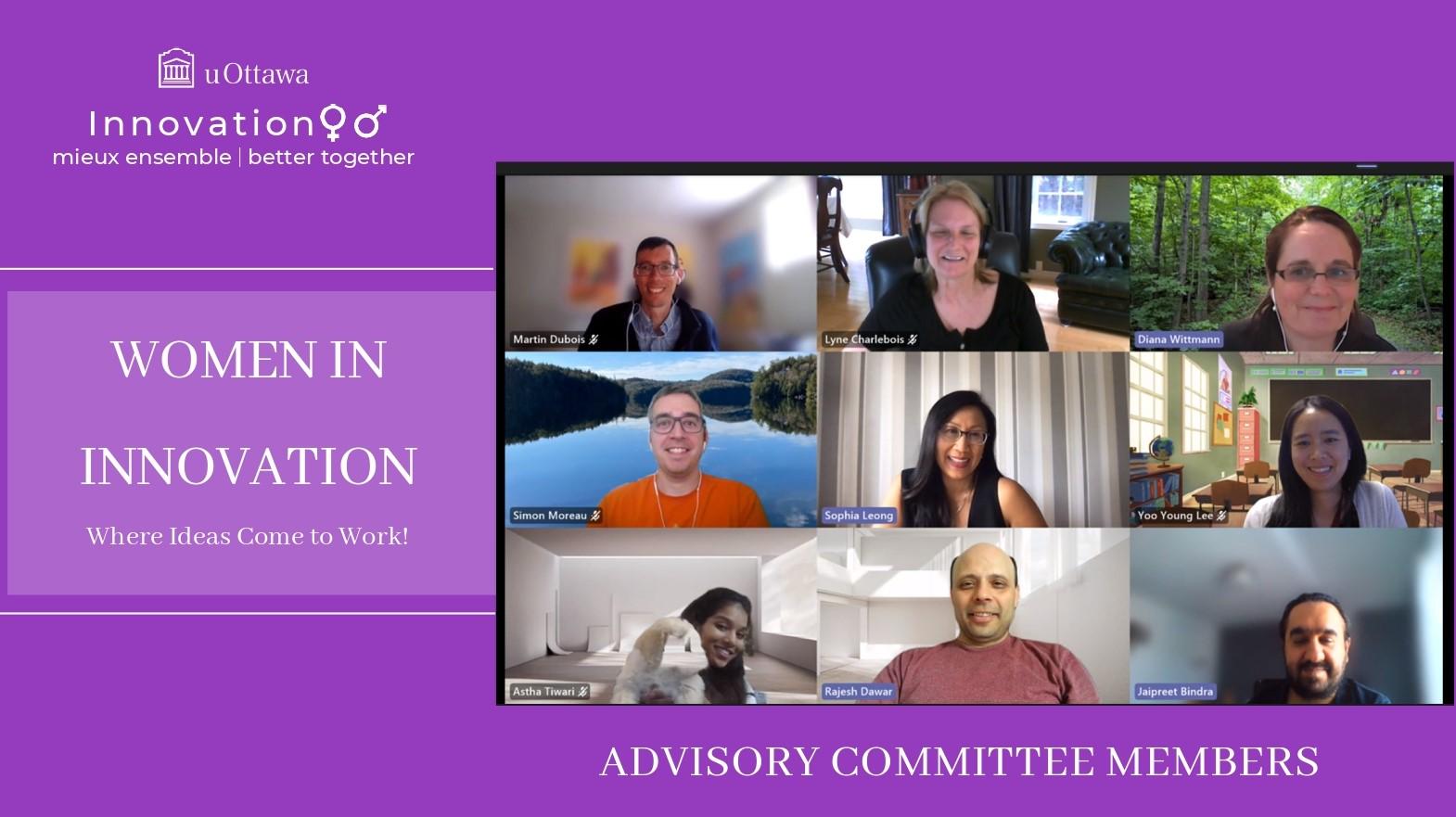 Women in Innovation Advisory committee - June 2021