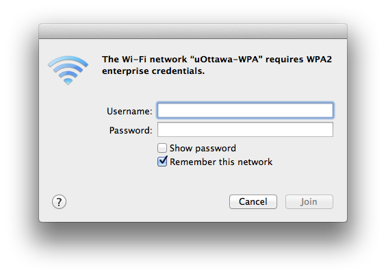 uOttawa-WPA wireless with Apple Mac OS X screenshot - step 3