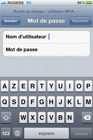 Accédez au réseau sans fil uOttawa avec votre iPhone - étape 4